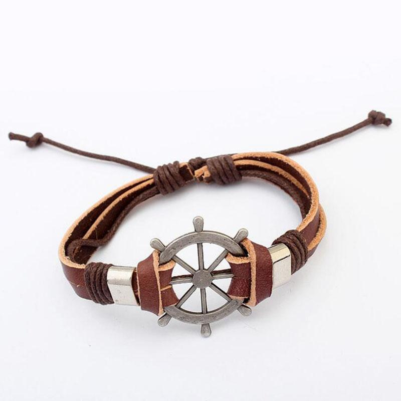 2019 New Retractable Compass Bracelet Fashion Wild Hand Woven Leather Rope  Bracelet For Women From Fengyune 660d4a449f