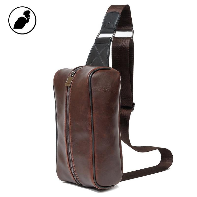 a1b1b00405 ETONWEAG Famous Brands Cow Leather Belt Bag Men Travel Bags Brown Vintage  Crossbody Fanny Pack Zipper Casual Celular Waist Bag Bags Sale Summer  Handbags ...