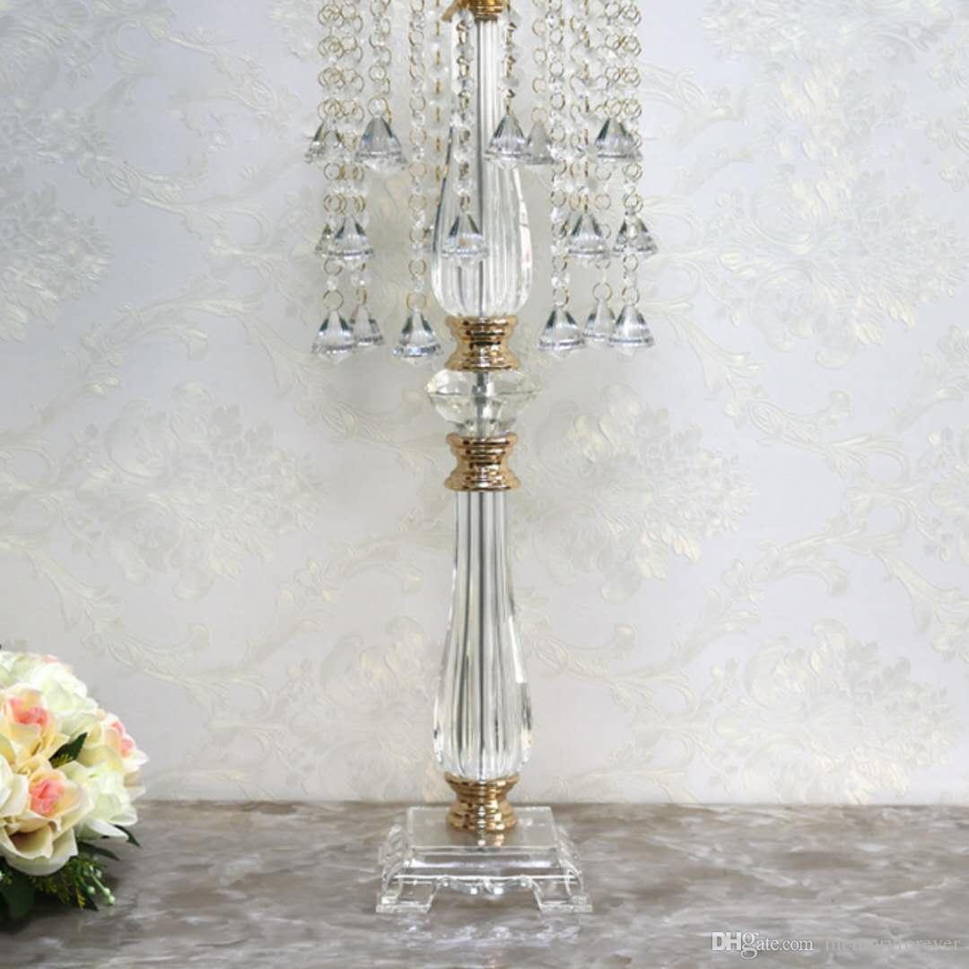 Wedding Decoration Table Centerpiece 70cm Tall Crystal Flower Stand Wedding Supplies Favors Gifts flower arrangement vases