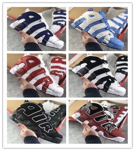 Compre 2018 New Air Más Tri Color Uptempo QS 96 Bsidian Burdeos Olympic  Bulls UNC Gym Red Hombres Zapatos De Baloncesto 3M Scottie Pippen Sports  Sneakers A ... 01ff0369c60