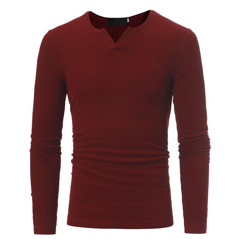 T-shirt da uomo moda casual slim girocollo maniche lunghe T-shirt stile sexy abbigliamento Tight fit vestito di fitness nero bianco T-shirt all'ingrosso