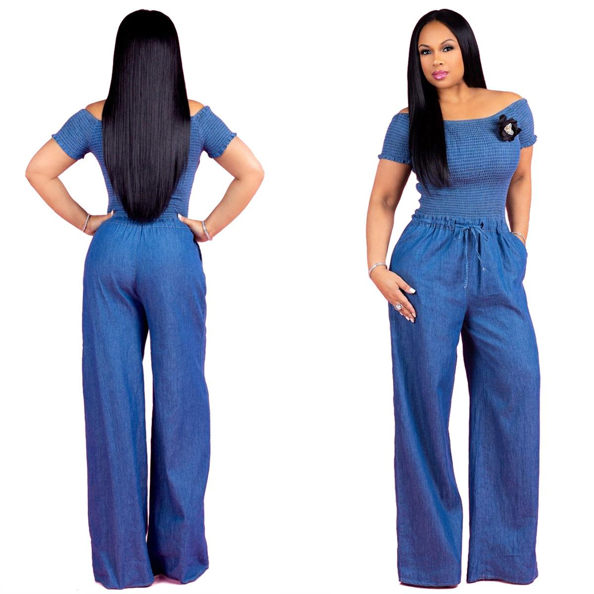 Frugal Summer 2 Piece Jumpsuit Romper Women Elegant Striped Printed Wide Leg Playsuit Sexy Party Club Wear Long Pants Overalls Women's Clothing
