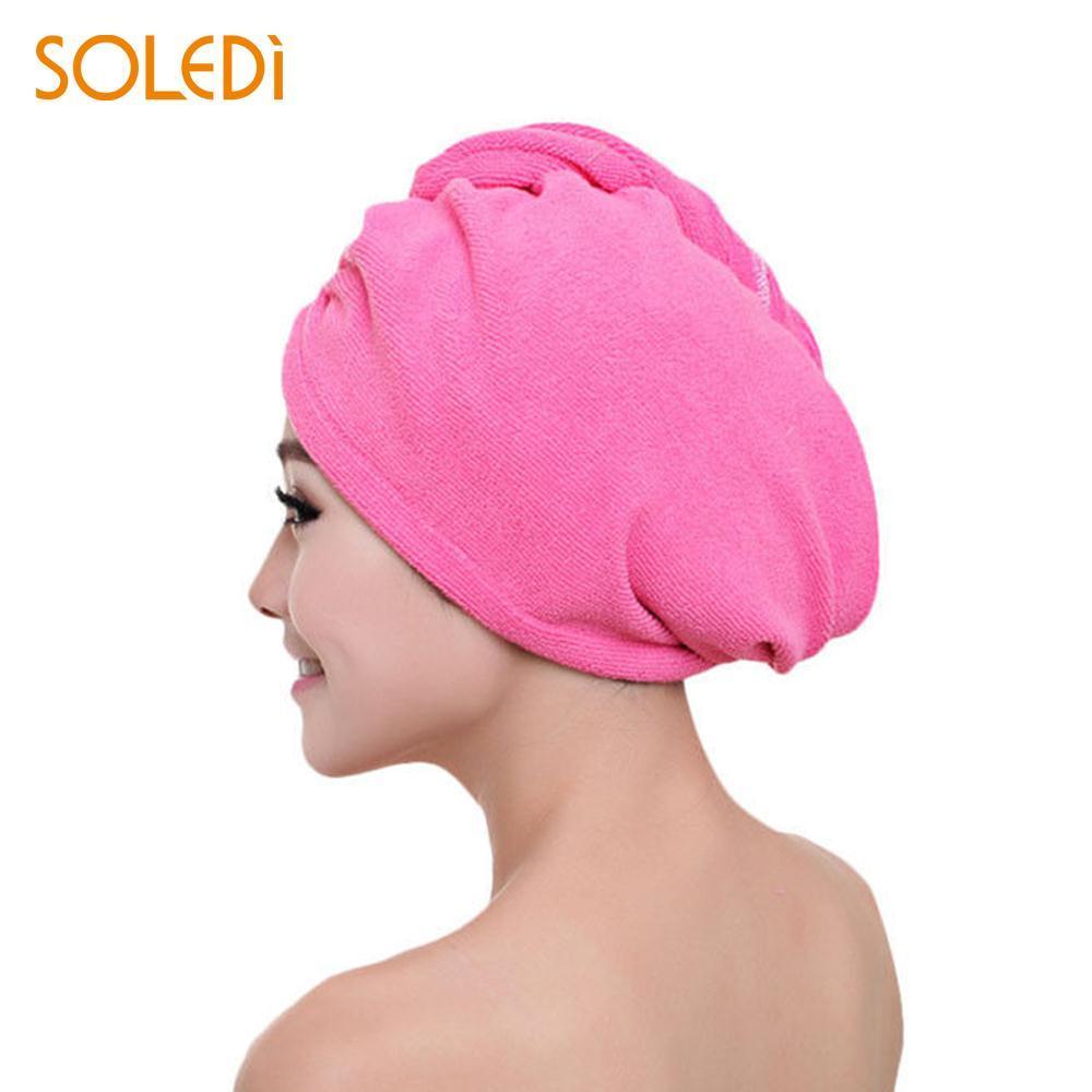 Compre Conveniente Sombrero De Cabello Seco Sombreros De Ducha Gorro De  Microfibra Tela Duradera 60   25 Cm Lavado Inicio Mujeres Productos De Baño  ... 8c94a6062db