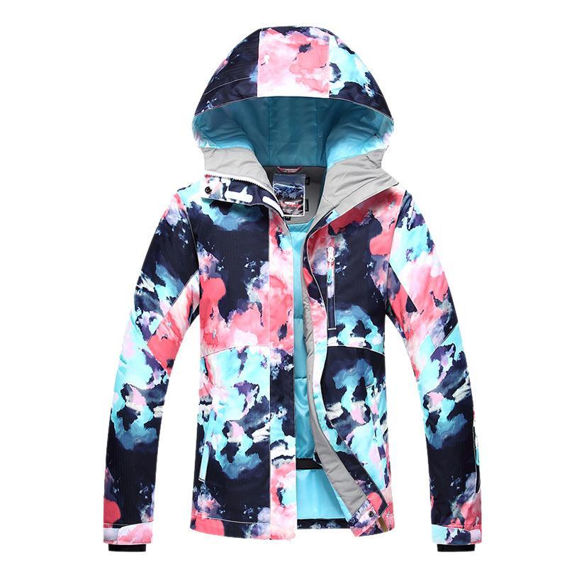 de73332a1353 Acheter GSOU SNOW Marque Ski Veste Femmes Vestes De Snowboard Femelle  Étanche Manteau Pas Cher Ski Costume Dames D hiver En Plein Air Sport  Vêtements De ...