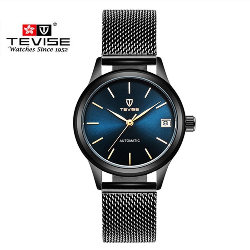 93d4bbfc540 Compre Marca De Luxo Tevise Mulheres Relógios Automáticos Pulseira Mecânica  Relógio De Senhoras De Aço À Prova D  água Vestido Relógios De Pulso Para  As ...