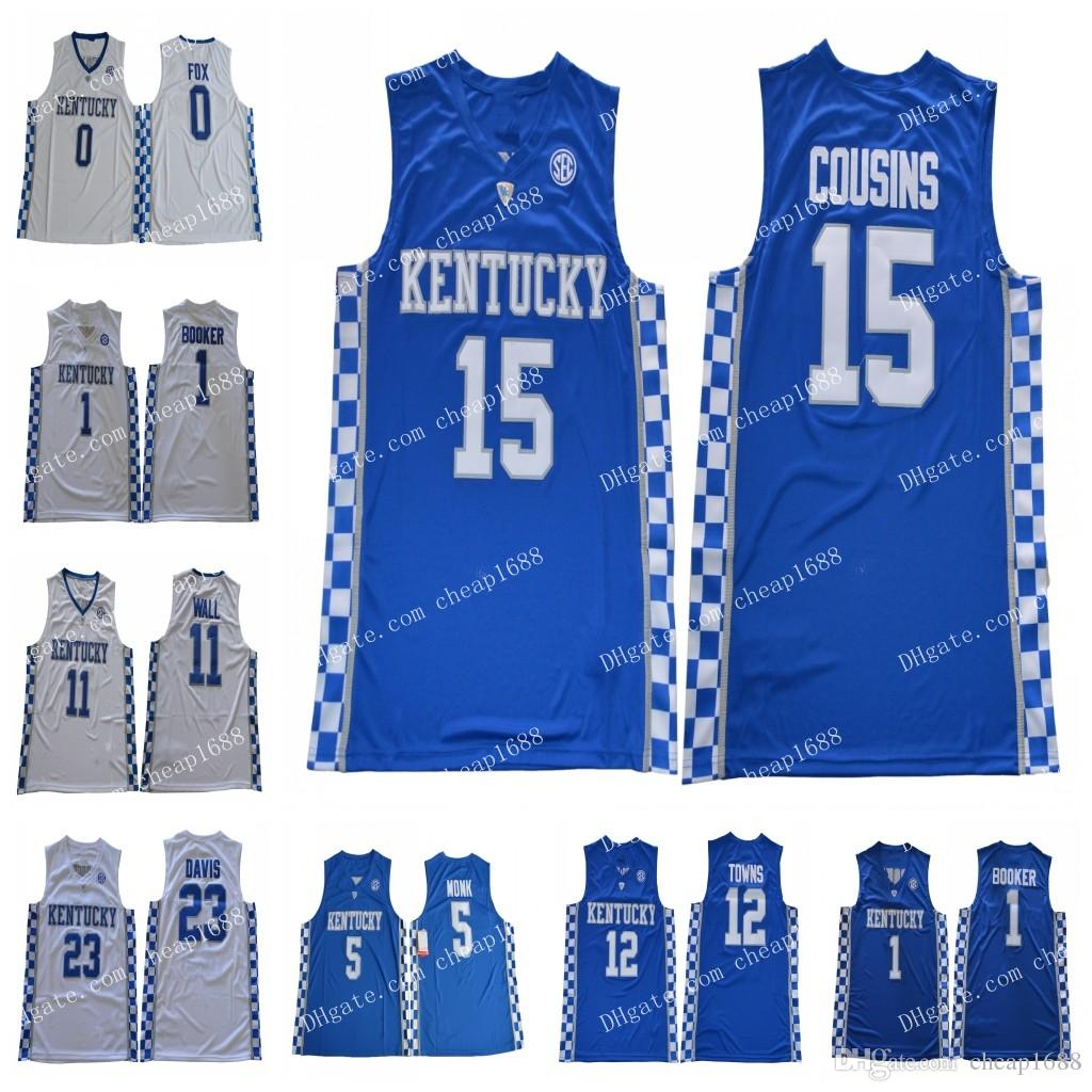 2019 NCAA Kentucky Wildcats 1 John Calipari 3 Edrice Adebayo 5 Malik Monk  15 Cousins 23 Davis Stitched College Basketball Jersey From Cheap1688 f1b846c42