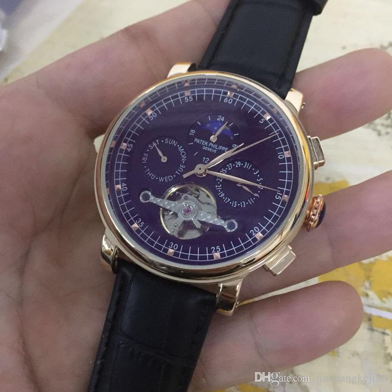 70c9181ac14 Compre Relógio Do Homem 2018 Marca De Luxo AAA Mens Relógios Famosos  Tourbillon De Aço Inoxidável Homens Relógios Relógio Masculino Esqueleto  Relógio ...