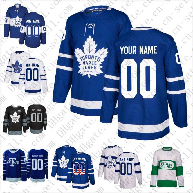 3c696c2e3 2019 2018 19 Custom Toronto Maple Leafs Men Women Youth 34 Matthews 91  Tavares White Green Camo Green Royal Blue Hockey Jersey Stitched From Cn  Sell