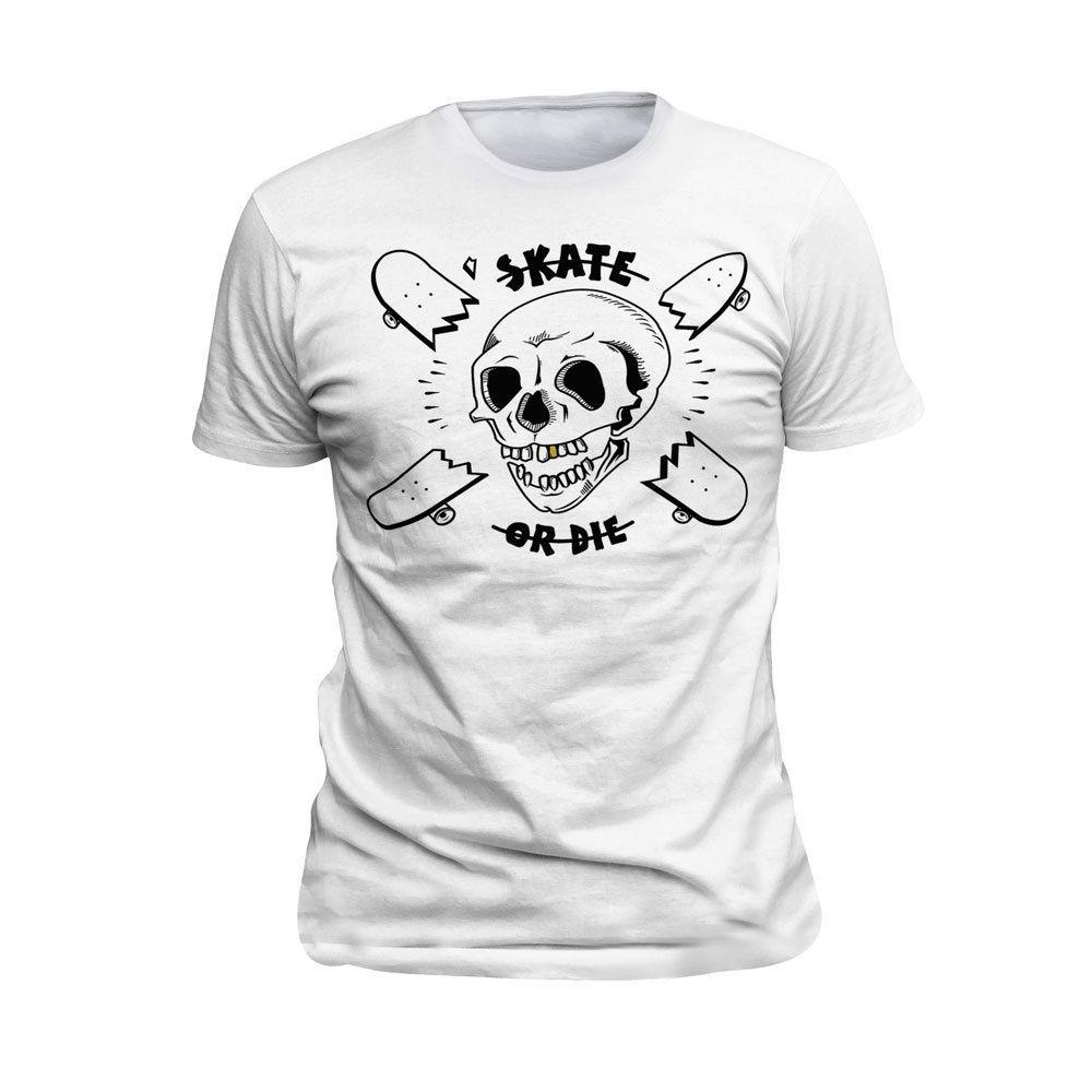 57acad55bf50 Skate T Shirt Tee Or Die Skateboard Hardcore Skull Bmx Hipster Street S M L  XL Rude Tshirts Offensive Tee Shirts From Mycarperformance, $11.01|  DHgate.Com