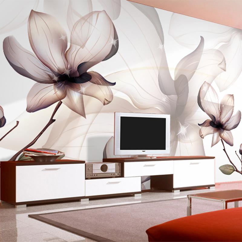 Großhandel Benutzerdefinierte 3D Fototapete Vlies Magnolia Blume ...