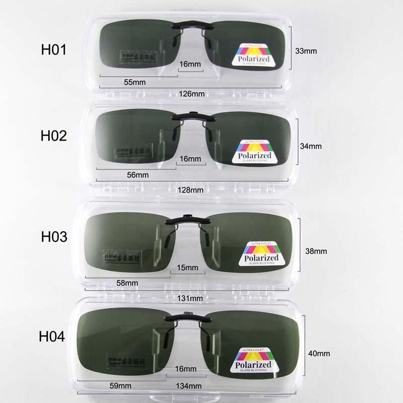 2cc66d89a8 Compre Rui Hao Eyewear Gafas De Sol Súper Ligeras Clip En Gafas De Sol  Polarizadas 4 Tamaño Gafas De Conducción Gafas De Sol De Clip Hombres  Mujeres A ...