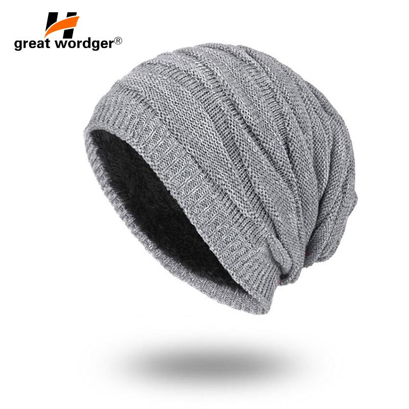 1d7a4b78735d4 2019 Winter Windproof Warm Hiking Caps Men Wool Thermal Fleece Knitted  Beanies Ski Bike Motorcycle Warmer Helmet Hat From Youtuo, $36.4 |  DHgate.Com
