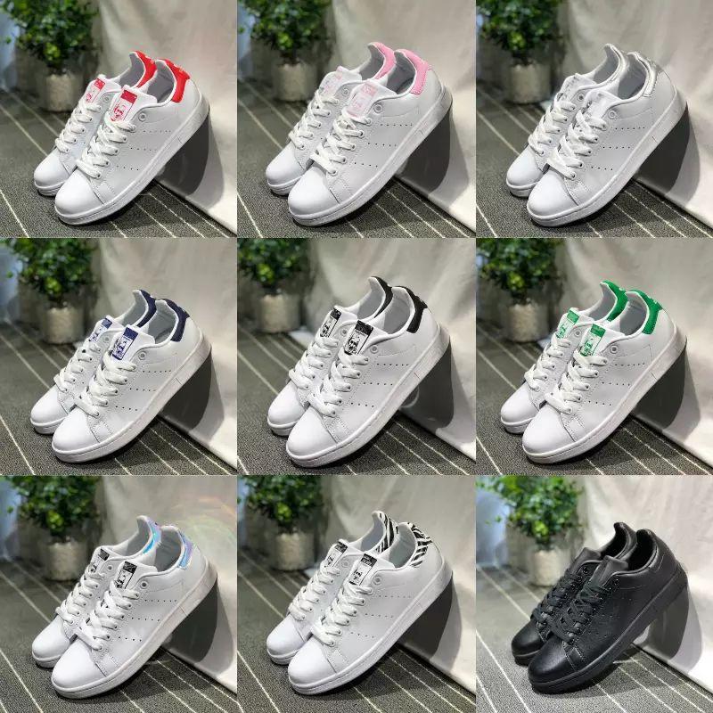 Compre Venda 2019 Novos Originais Stan Smith Sapatos Barato Mulheres Homens  Casuais Tênis De Couro Superstars Skate Punching Branco Meninas Stan Smith  ... 14c1ca66446