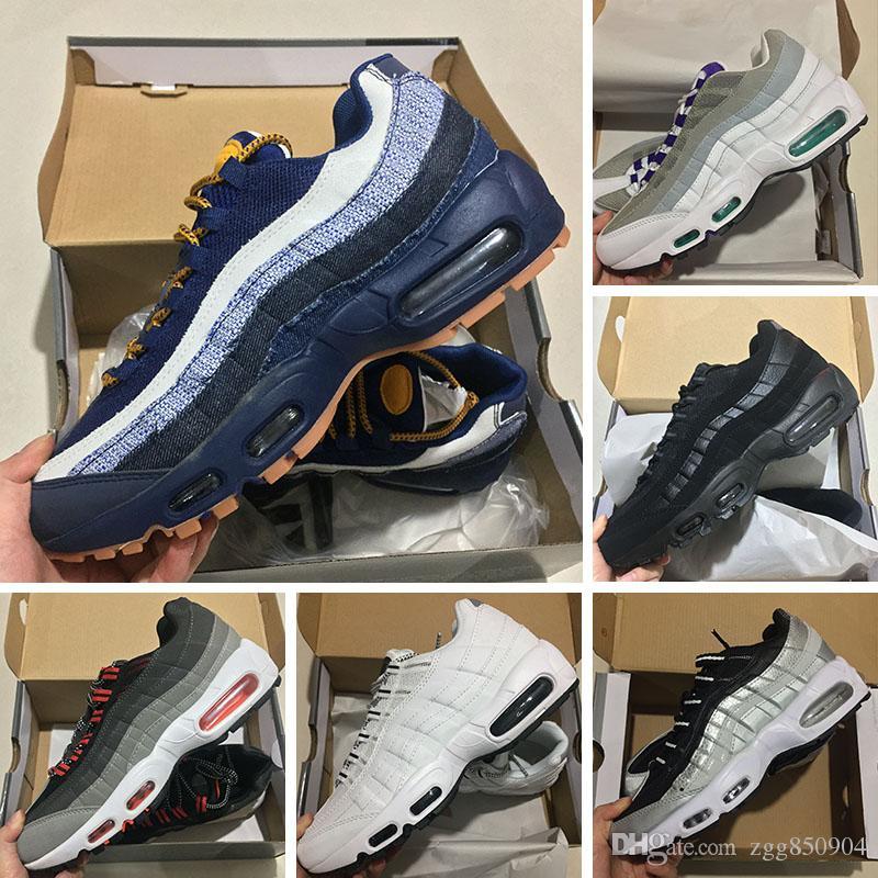 new products 61f99 d7ed3 Compre Al Por Mayor Barato Ultra Esenciales Nike Air Max 95 Id Lx Zapatos  Deportivos Hombres Zapatillas De Deporte Zapatillas De Deporte Al Aire  Libre ...