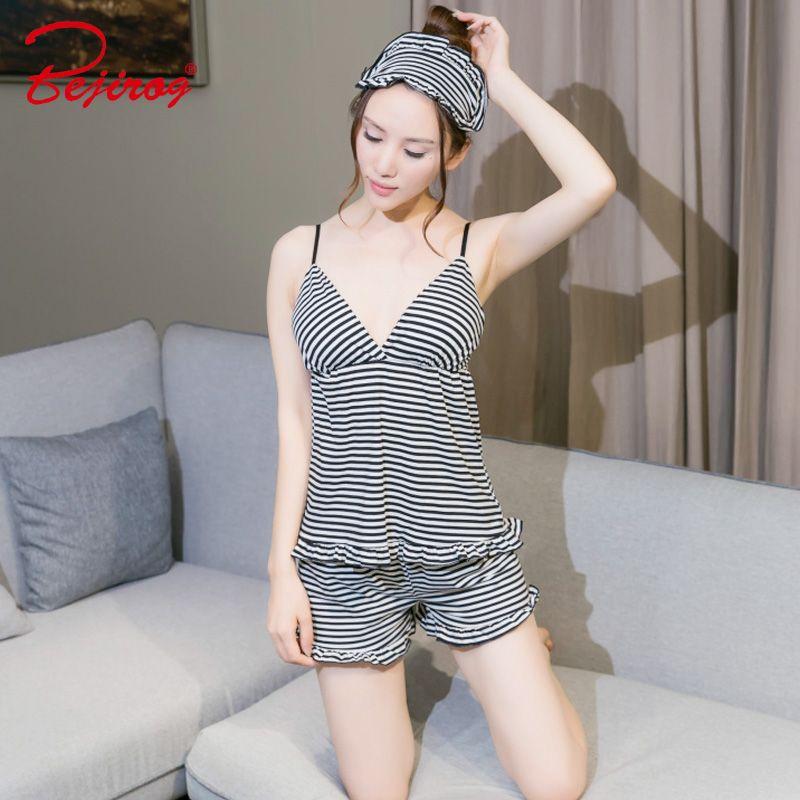 f76b1cb139 2018 Girl Pajamas Set Milk Silk Women Sleepwear Summer Lingerie Robe Sexy  Sleeveless Pyjamas Feamle Nighties+ Mini Pants Sexy Cheap Underwear Sexy  Lady ...