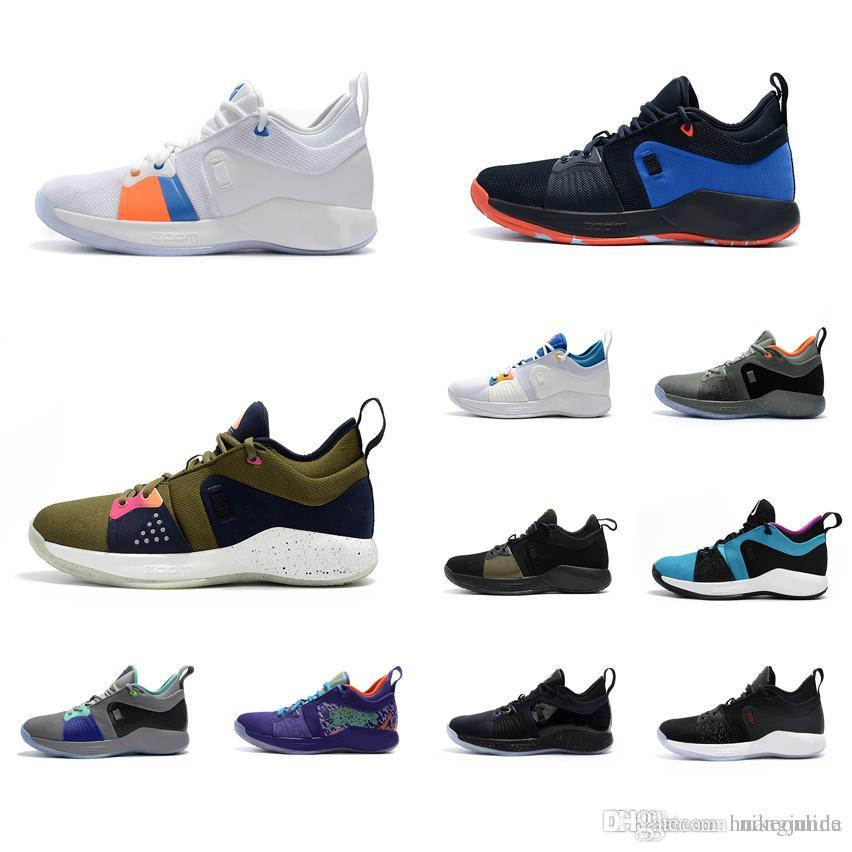 b8bc489fef97 2019 Cheap New 2018 Mens PG 2 Basketball Shoes 2s Maxes Zoom Air Paul  George PG2 Elite Sneakers Boots With Original Box For Sale From Huangjunda