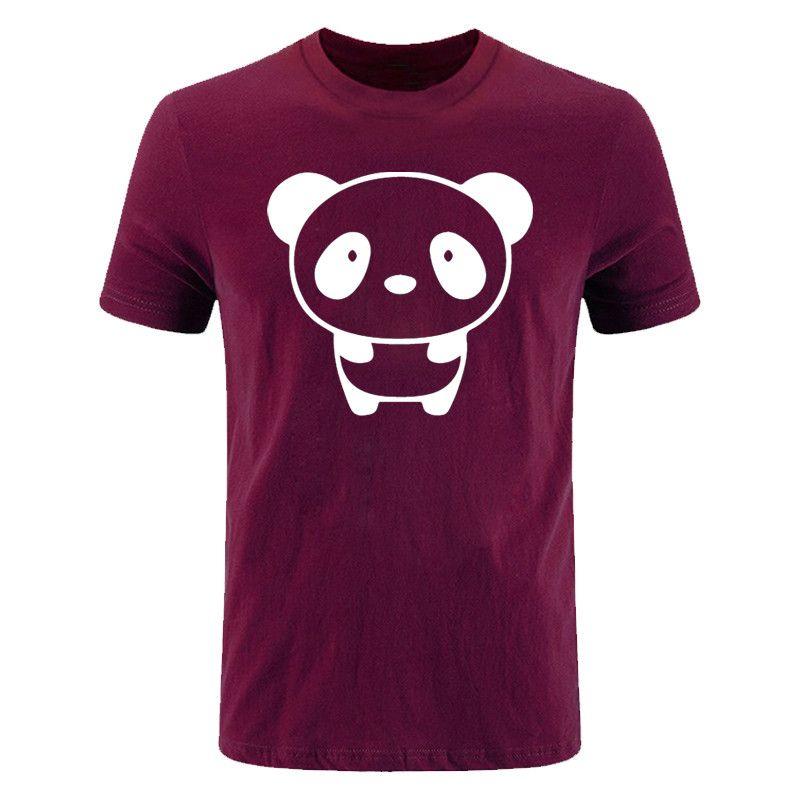 Cute Cartoon PANDA Printed Mens T-shirt summer New fashion Short Sleeve O Neck Casual Cotton T shirt tops Tees DIY-0886D