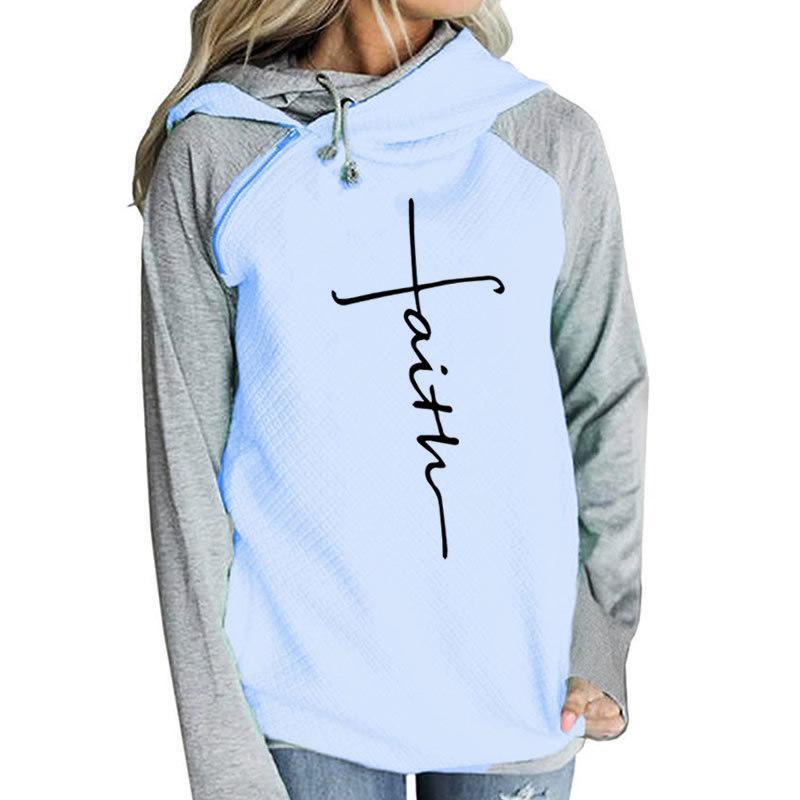 online retailer b4b2a ad080 2018 neue Mode glauben Druck Shirt Frauen T-Shirt weiblich Langarm lässig  T-Shirt Top Femme lustige niedliche Weihnachtsgeschenk Japan S18100903