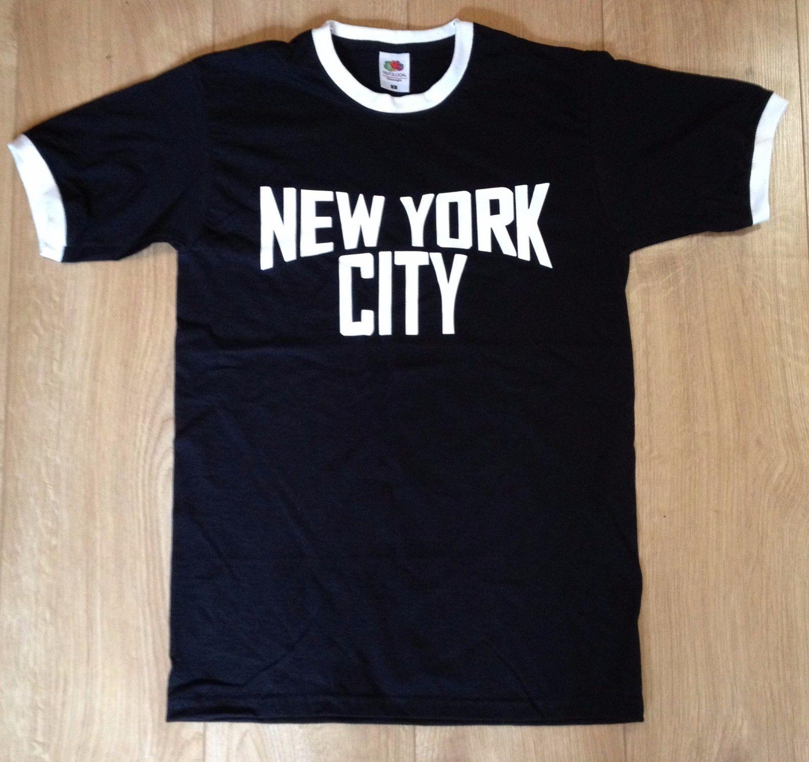 New York City Ringer T Shirt Retro John Lennon Classic Music Imagine Black  Cotton Low Price Top Tee For Teen Boys Newest 2018 Fashion Online T Shirt  Buy ... 6ad9cacb328