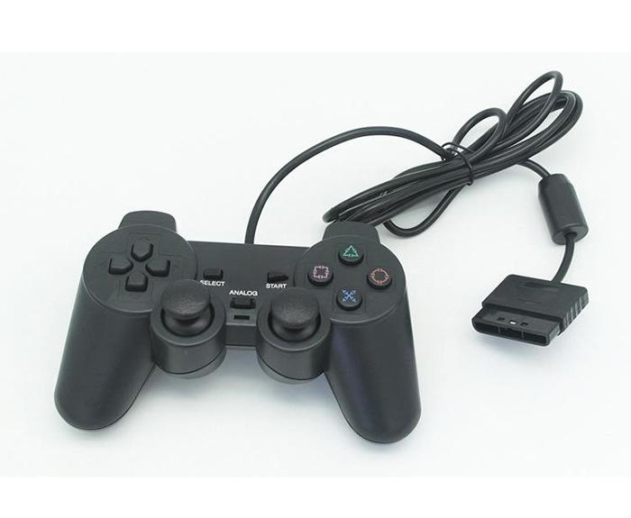 100X Hot selling Wired Controller For PS2 Double Vibration Joystick Gamepad Game Controller For Playstation 2 M-JYP