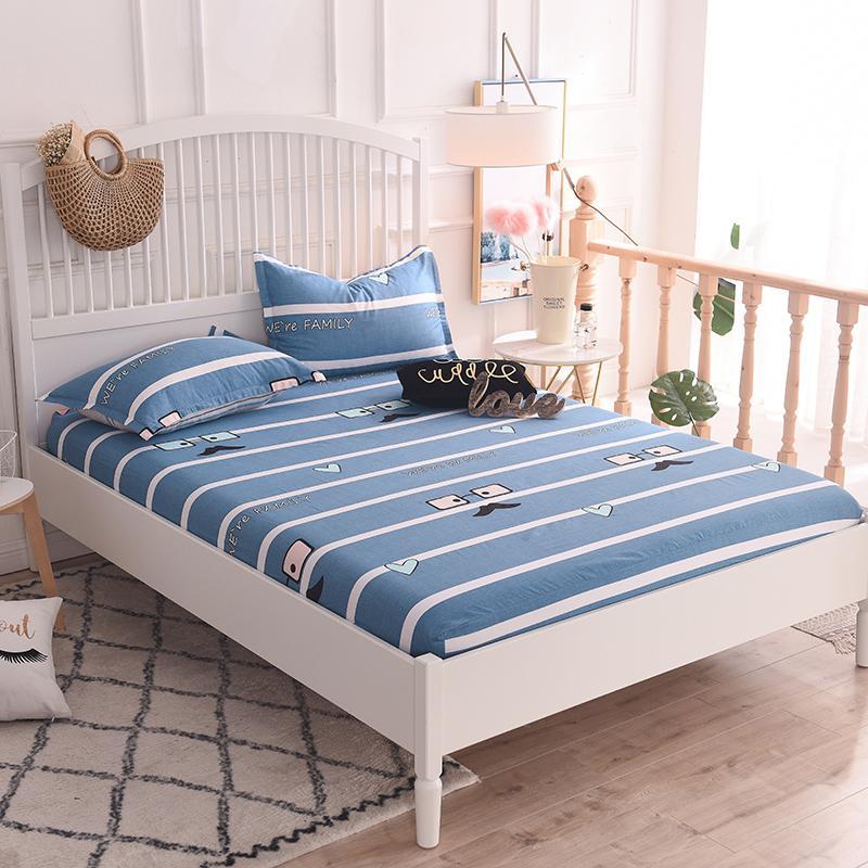 Großhandel Blau Weiß Gestreiftes Muster Baumwolle Weich