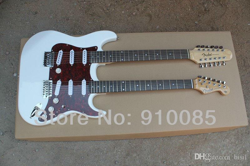 New HOT 1275 White Double neck electric guitar 12 6 String electric guitar Musical Instruments