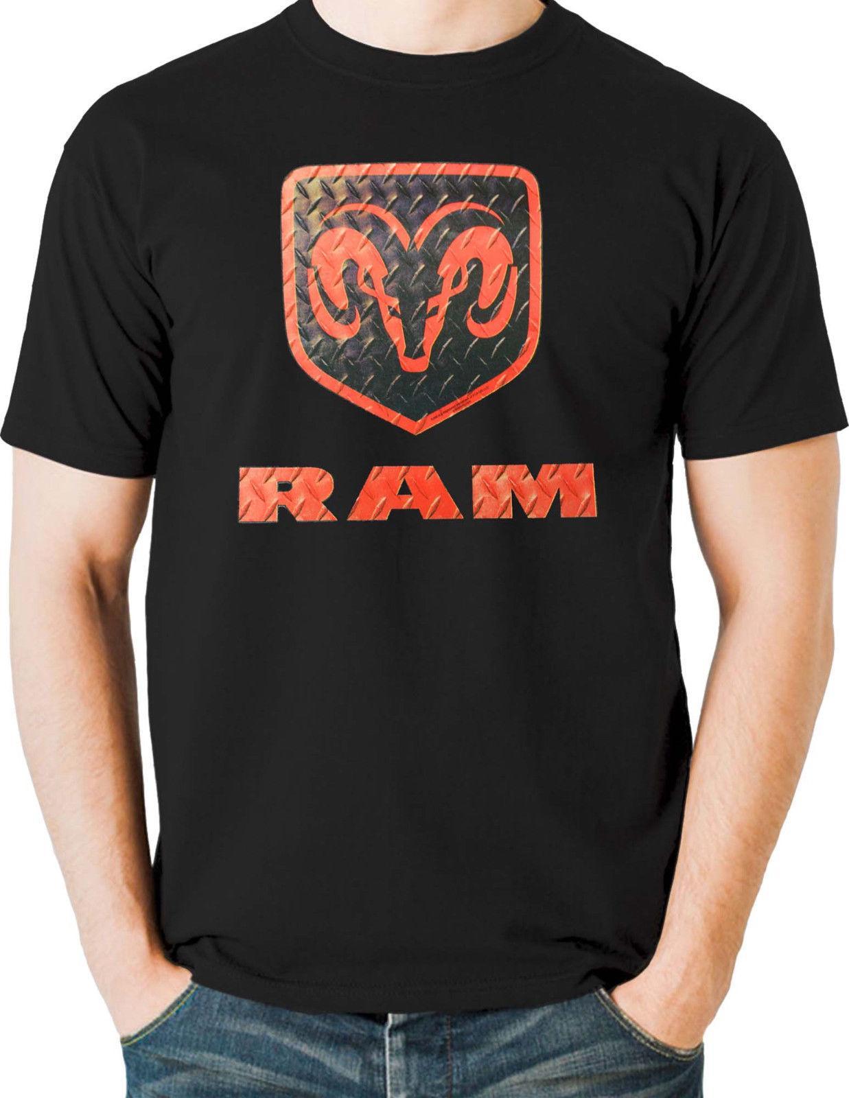 Dodge Ram Hemi T Shirt Diamond Plate Rams Head Logo Mens Small To