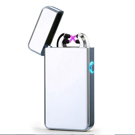 Double ARC Electric USB Lighter Rechargeable Plasma Windproof Pulse Flameless Cigarette lighter colorful charge usb lighters