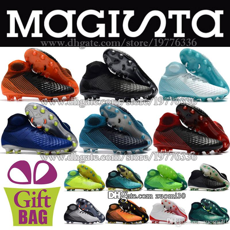 17e229d322f 2019 Mens Magista Obra II FG Original Soccer Cleats Socks Football Shoes  High Ankle Football Boots Magista ACC Soccer Boots Trainers Size 39 46 From  Zuomi30 ...