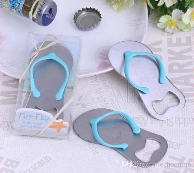 be5139f79 2019 Flip Flops Bottle Opener Creative Sandals Shoes Beer Bottle Red Wine  Openers Slipper Shaped Wedding Favor With Retail Box From Echootime