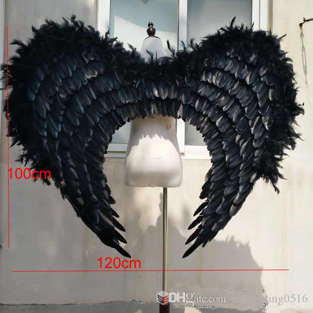 Costumed high quality Unique black angel wings cosplay party stage show Shooting Displays props Fairy wings EMS