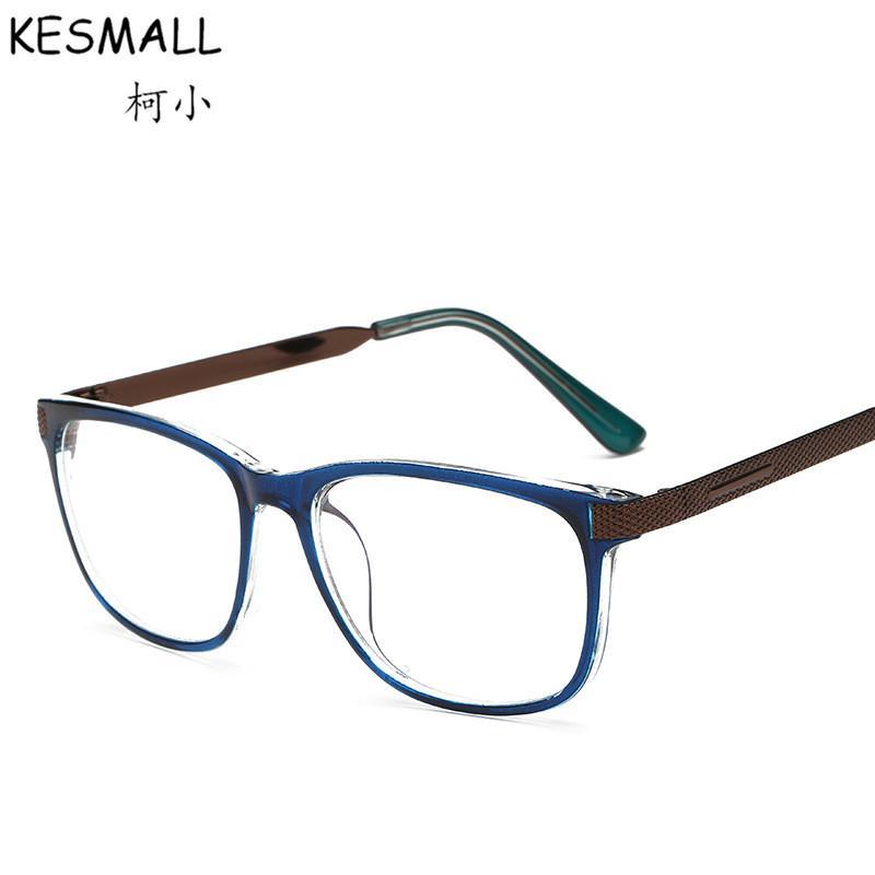 251d7432c3b9d Compre 2017 Moda Óculos De Armação Das Mulheres Dos Homens Do Vintage  Óptico Óculos Frames Oculos De Grau Eyewear Masculino Óculos De Jogos  Quadros YJ125 De ...