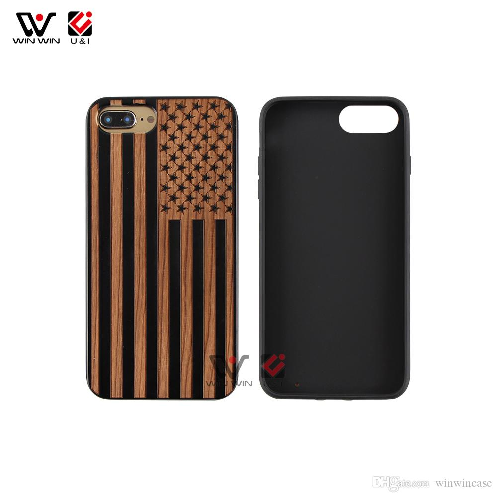 Hot design wood phone case for iPhone 6plus 7plus 8plus 6 7 8 plus x TPU rubber coating mobile back cover drop shipping