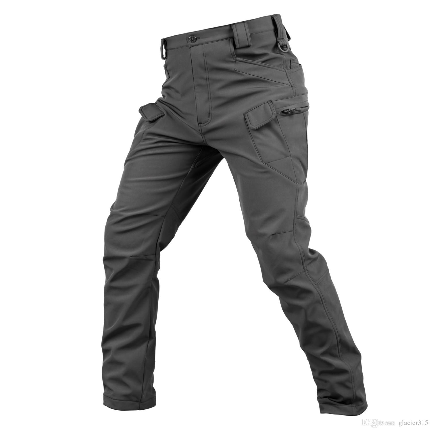 men cargo pants for Black lined