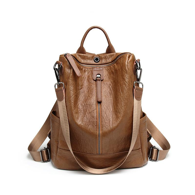 3a8b23c52789 Fashion Women Backpacks High Quality Genuine Leather School Bags For ...
