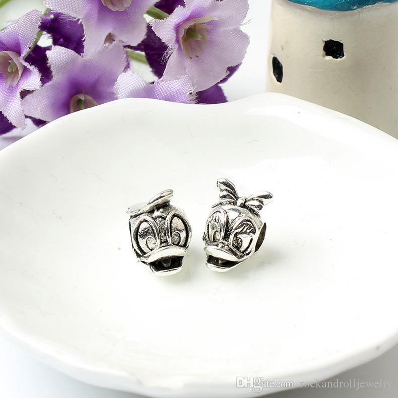 Promoção nova chegada pato charme para pandora pulseira cobra cadeia ou colar de moda jóias solta pérola