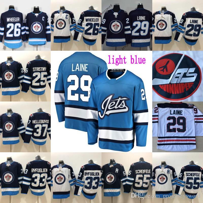 6370e77326a 2019 Winnipeg Jets 29 Patrik Laine Jersey Mens 26 Blake Wheeler 33 Dustin  Byfu Glien 55 Mark Scheifele Hodkey Jerseys 2016 Heritage Classic From ...