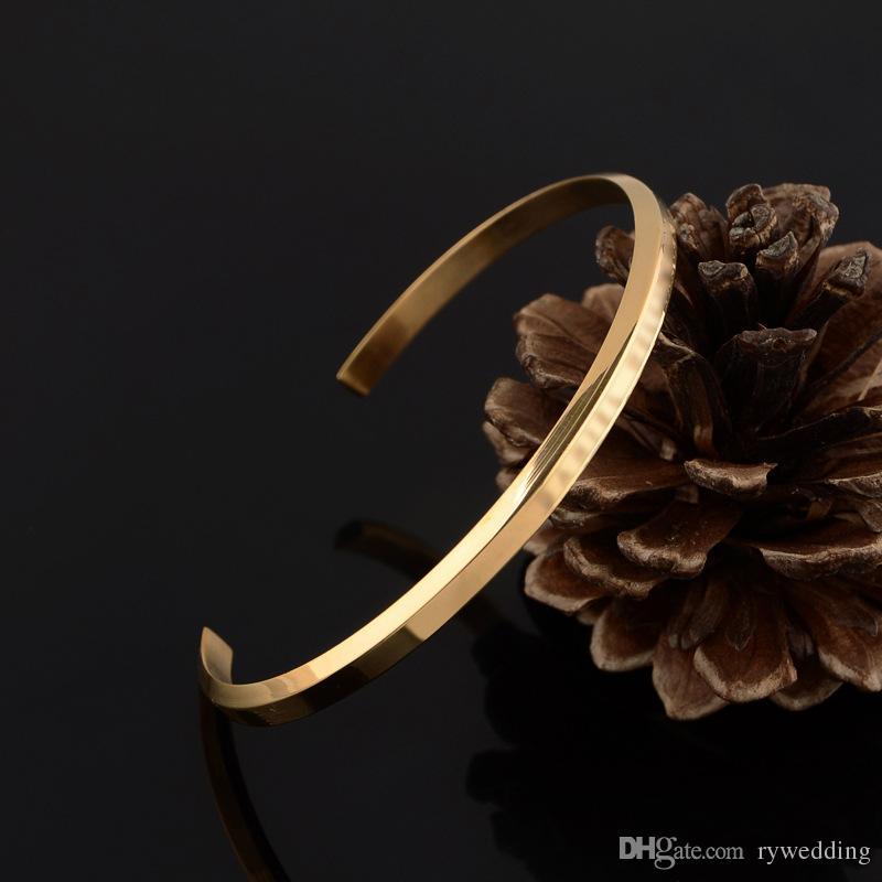 Manguito de acero inoxidable pulseras DW punk de oro rosa de plata de oro brazalete para mujeres y hombres de la moda pulsera de calidad superior de la joyería