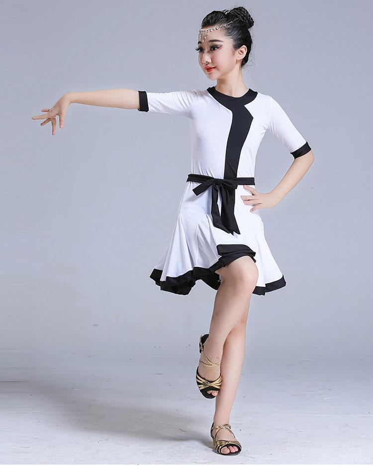 8afdfc7c3 2019 Girl Latin Dance Dress For Girls Modern Salsa Tango Skirt ...