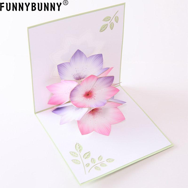 Funnybunny Greeting Cards Handmade Birthday Wedding Invitation 3d