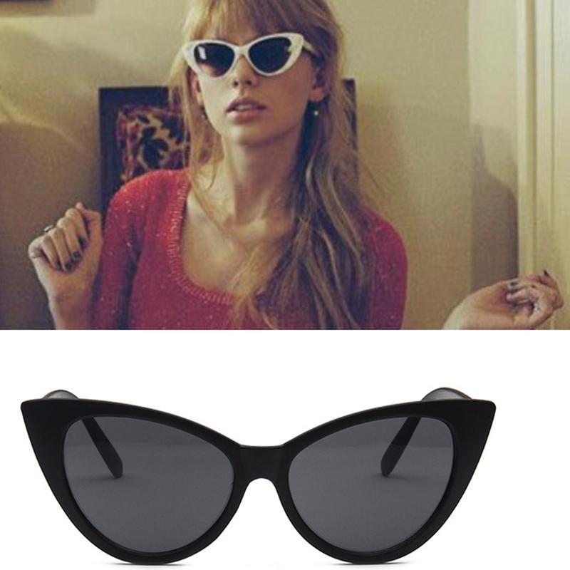 b197fc412 Compre Luxo Barato Óculos De Sol Cores Cat Eye Sunglasses Mulheres Marca  Designer Retro Vintage Óculos De Sol Mulheres Feminino Senhoras Óculos De  Sol De ...