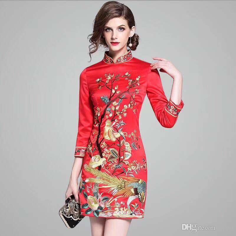 Acheter Chinoise Automne Style Améliorée Broderie Mode 2018 rqrgZa