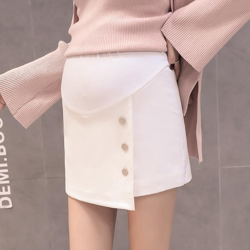 e0cd96596c388 2019 923# High Waist Belly Maternity Skirts 2018 Autumn Winter Korean  Fashion Skirts For Pregnant Women Office Ladies Pregnancy Wear From Humom,  ...
