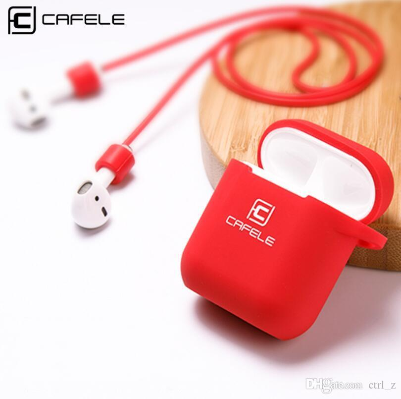 e59fe9ee8a3a 2019 Cafele For AirPods Case Protective Silicone Cover And Skin For Apple  Airpods Charging Case 3 In 1 Anti Lost Strap Box From Ctrl z