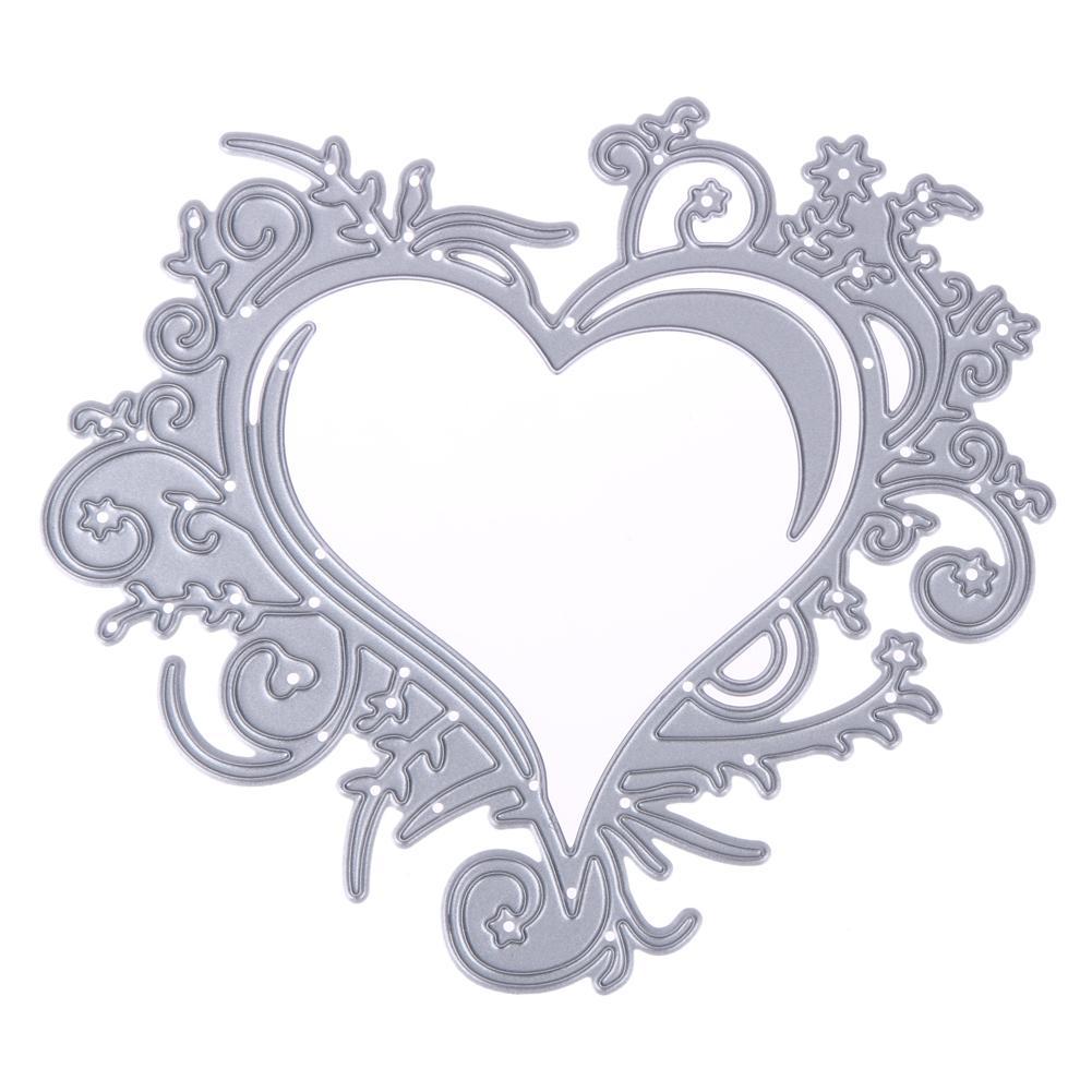 Compre Encaje Love Heart Cutting Dies Plantillas De Metal Para Diy ...