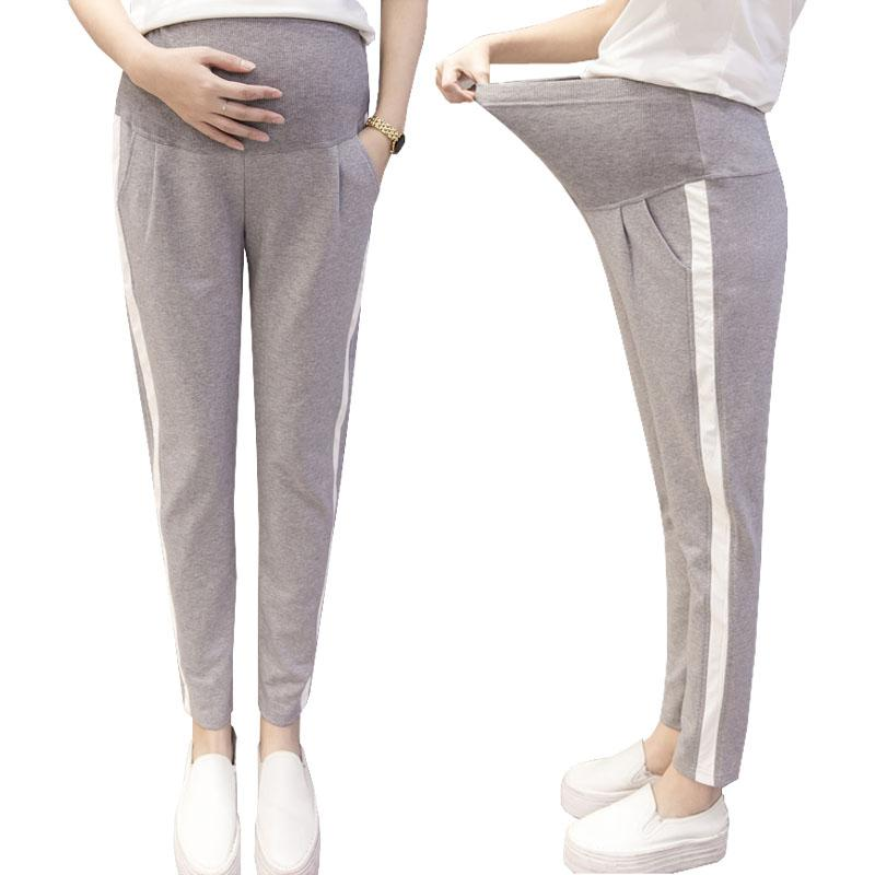 45700c50b2dd5 Casual Trousers For Pregannt Women Clothing Maternity Pants Cotton ...