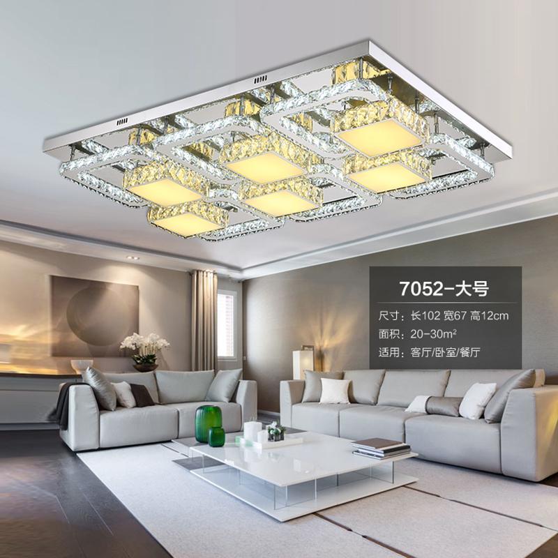 Großhandel Kristall Led Deckenleuchten Moderne Lampe Wohnzimmer ...