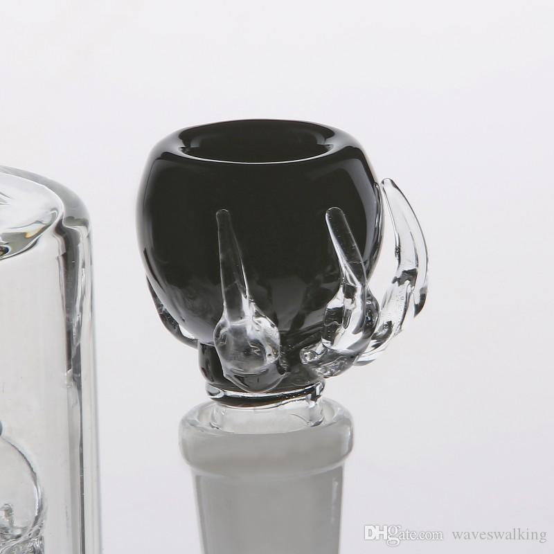28cm Dab Rigs Glass Bong Cheap Joint 18.8mm Two Function Smokign Water Pipes Arm-tree&Headshower Percolators Recycler Oil Rigs Glass Bongs i