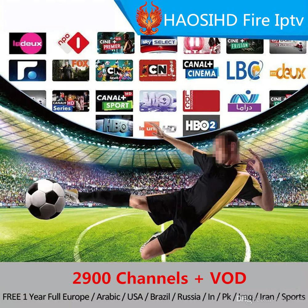 android 7 1 tv box x96mini with abonnement 1 Year IPTV USA Canada Arabic  France Sports UK Germany 2900+ IPTV Channels