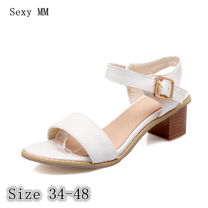 4551f406486 Compre Sandalias De Mujer Tacones Altos Zapatillas Zapatillas De Peep Toe  Zapatos De Verano Sandalias De Tacón Alto Tallas Grandes 34 40 41 42 43 44  45 46 ...